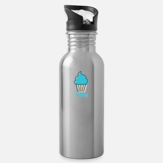 Tiny Mugs & Drinkware - Tiny Baked Goods - TBG - Water Bottle silver