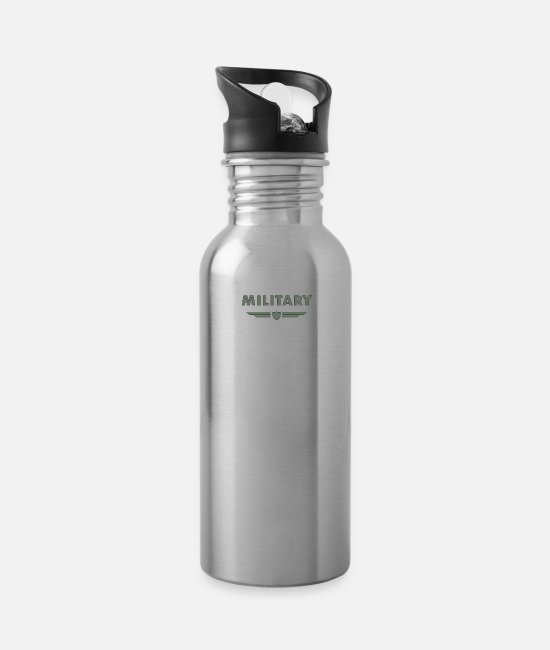 Proud Mugs & Cups - military - Water Bottle silver