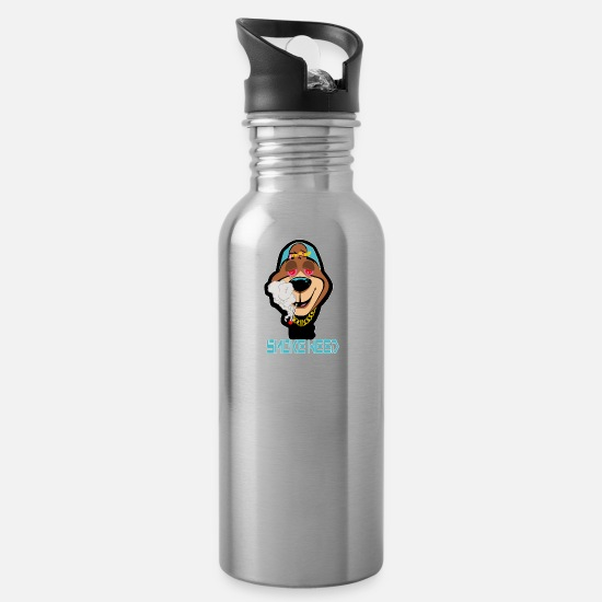 Weed Mugs & Drinkware - smoke weed - Water Bottle silver