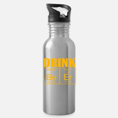 Gold Funny Geek Design Design Save Water Drink Beer Gold - Water Bottle