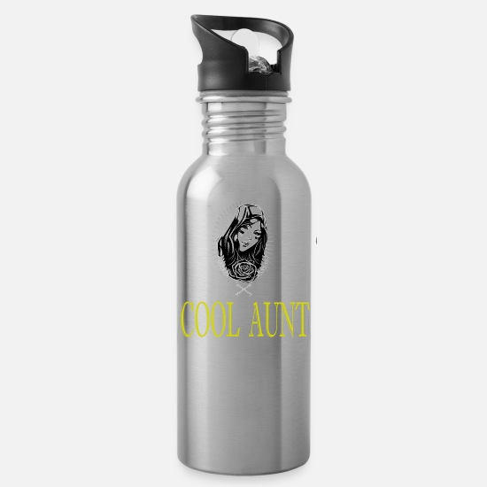 Aunt Clothes Mugs & Drinkware - Aunt Design Aunt Gift - Water Bottle silver
