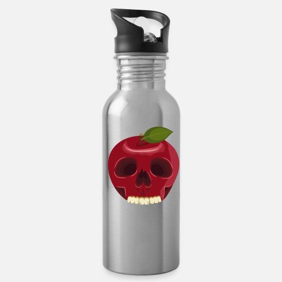 Harvest Mugs & Drinkware - Apple Skull - Water Bottle silver