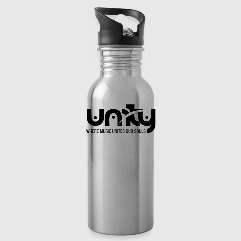 Unity Women's Fitted Tank Top (White Logo) - Water Bottle
