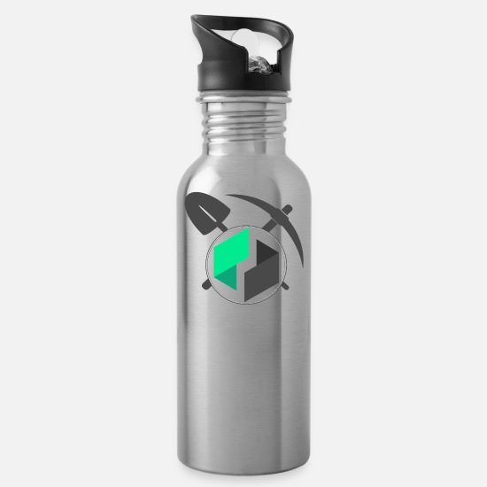 Facebook Mugs & Drinkware - Mining Ubiq Coin - Water Bottle silver