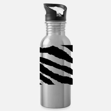 Zebra Stripes zebra stripes pattern - Water Bottle