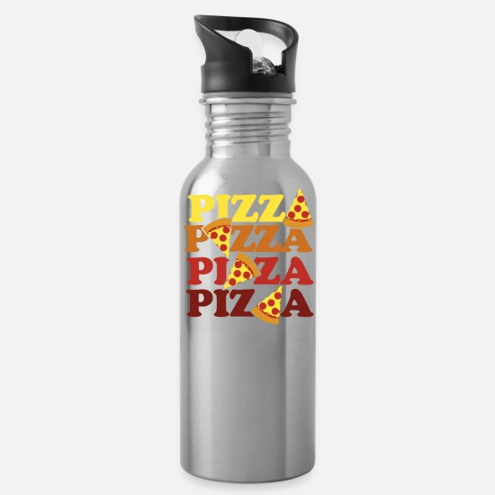 Pizza Mugs & Drinkware - Pizza Forever - Water Bottle silver