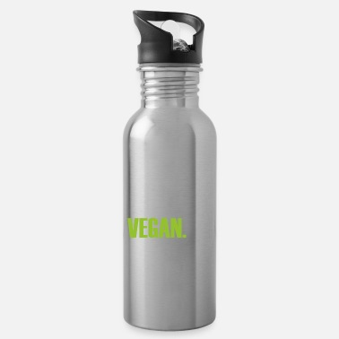 Food Vegan stronger health eating veggie quote gift - Water Bottle