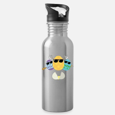 Egg funny bad easter eggs with sunglasses and weapons - Water Bottle
