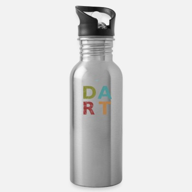 Bar Pub Distressed Dart Typography Bar Pub Tournament - Water Bottle