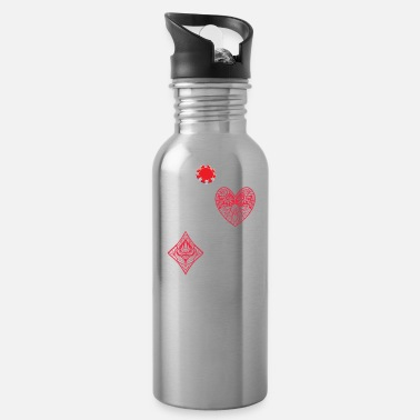 Out Poker Bluff Casino All In River Online Poker 1 Out - Water Bottle