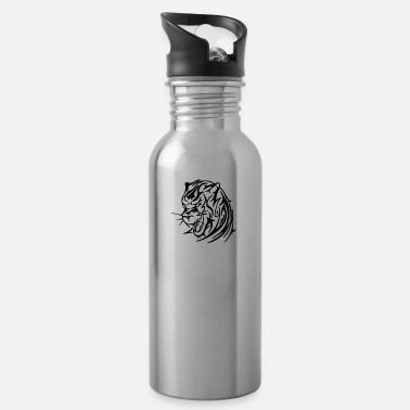Tribal Tiger Head - Water Bottle
