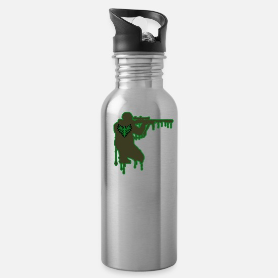 Gift Idea Mugs & Drinkware - Sniper Military - Water Bottle silver