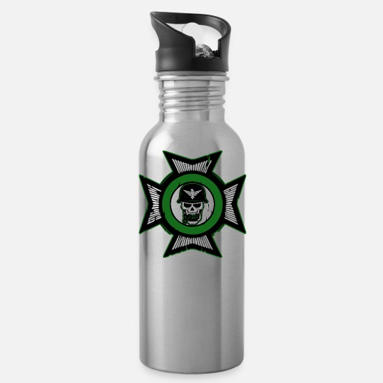 Soldier Mugs & Drinkware - Military Soldier - Water Bottle silver