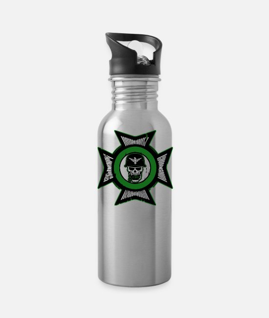 Gun Mugs & Cups - Military Soldier - Water Bottle silver