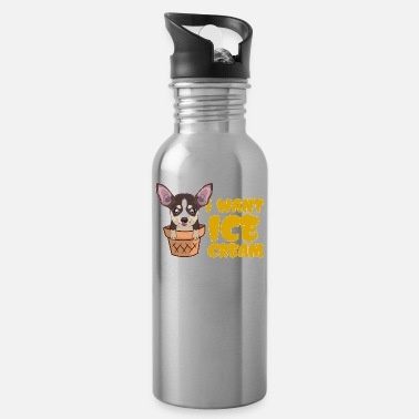 Ice Chihuahua Ice Cream Dog Lover Pet Puppy Gift - Water Bottle