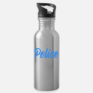 Police Work Police - Water Bottle