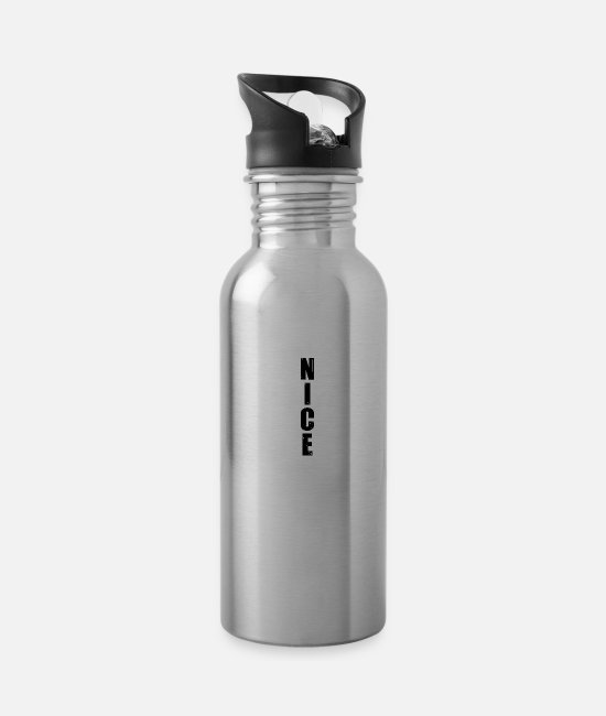 Easy Mugs & Cups - nice nice nice - Water Bottle silver