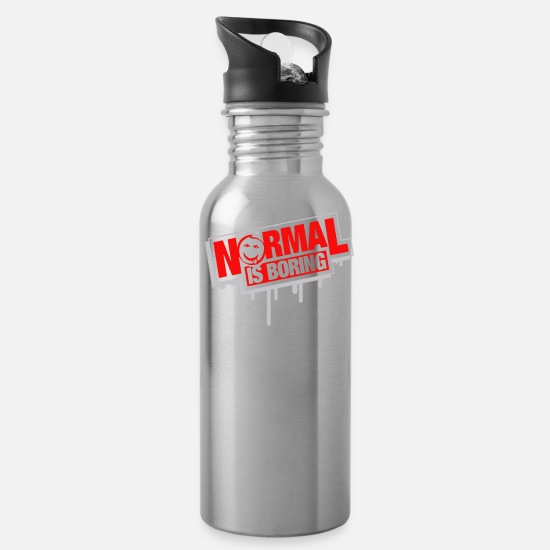 Normal Mugs & Drinkware - Normal Is Boring - Water Bottle silver