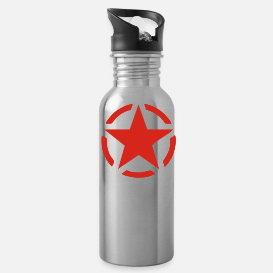 Star Mugs & Drinkware - Military Star - Water Bottle silver