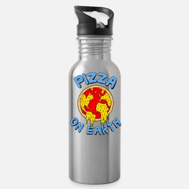 Gaming Pizza On Earth - Water Bottle