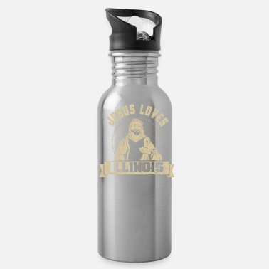 Jesus Christ Jesus Loves Illinois I Love Jesus Apparel Home Shirt - Water Bottle