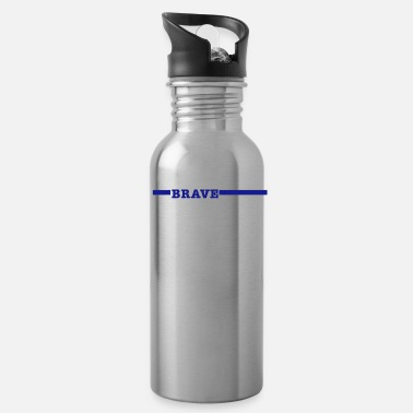 Police Brave Police Officer Thin Blue Line Shirt - Water Bottle