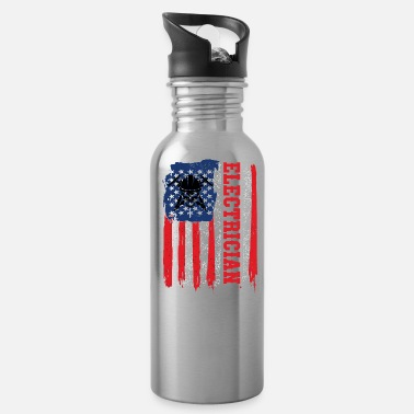 Electricity Electrician Electricity Electrical Electric Gift - Water Bottle