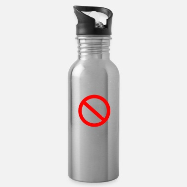 Weekend scolded me - mobile ban white - Water Bottle