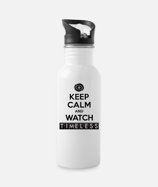 Keep Calm Mugs & Cups - Timeless - Keep Calm Watch Timeless - Water Bottle white
