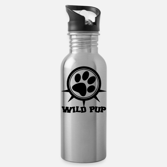 Play Mugs & Drinkware - Pup Play Puppy Play - Water Bottle silver