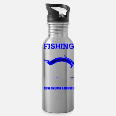 Hooker Fishing Fisherman Pornstar Hooker Angler Gift - Water Bottle