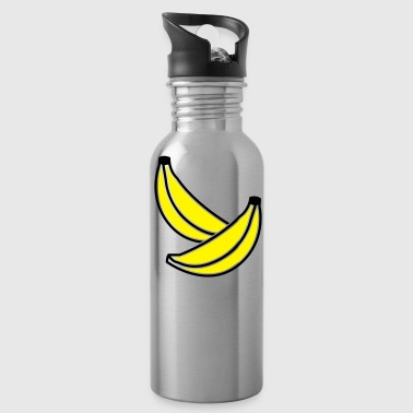 BANANA fruit two bananas 2 color - Water Bottle