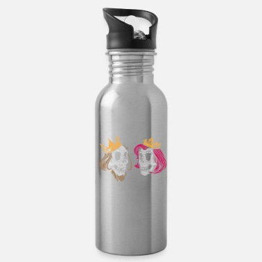 Skull King and Queen Skull - Water Bottle