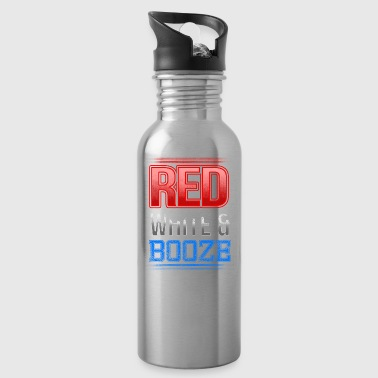 Red White And Booze - Water Bottle