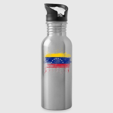 Love and Respect Venezuela Flag Venezuelan Pride T Shirt - Water Bottle