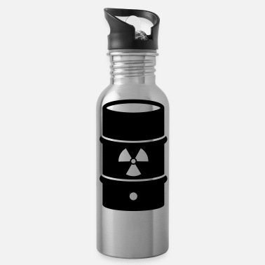 Atomic Energy atomic waste biohazard nuclear energy - Water Bottle