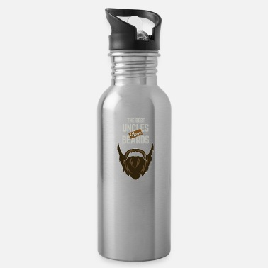 Uncle The Best Uncles Have Beards Hair Family Uncle - Water Bottle