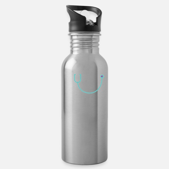 2018 Mugs & Drinkware - Nurse Est 2018 - Water Bottle silver
