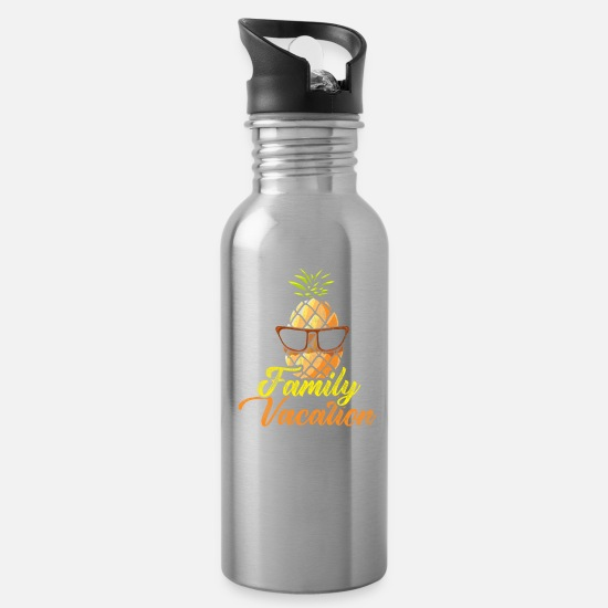 Trip Mugs & Drinkware - Pineapple Family Vacation - Water Bottle silver