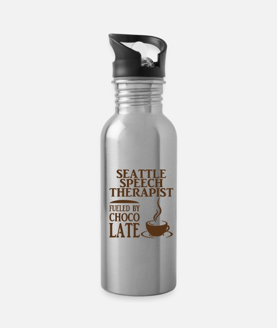 Speech Therapist Mugs & Cups - Seattle speech therapist - Water Bottle silver