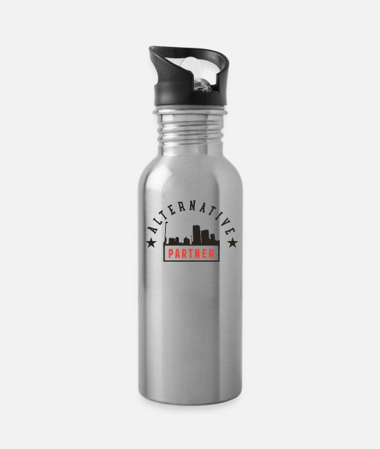 Quote Mugs & Cups - Alternative Partner - Water Bottle silver