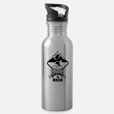 Ski Holidays Ski Skiing Skier Ski club Ski holidays - Water Bottle