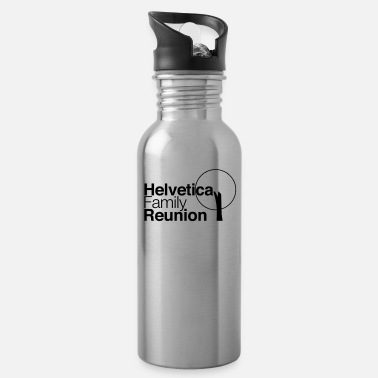 Family Reunion Funny helvetica family reunion - Water Bottle