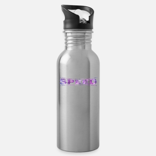 Love Mugs & Drinkware - LOVE TECHNO GESCHENK goa pbm SPEED goa - Water Bottle silver