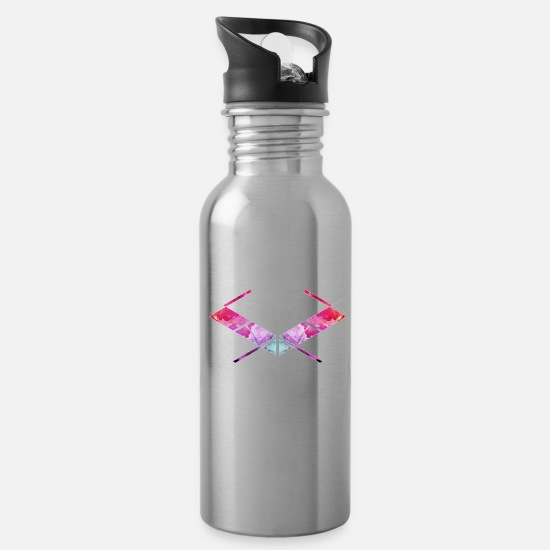 Symbol  Mugs & Drinkware - SaMPL and HoLD Watercolor Logo - Water Bottle silver