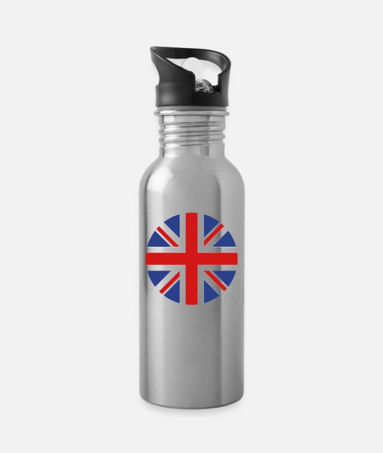 Kingdom Mugs & Cups - United Kingdom - Water Bottle silver