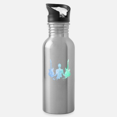 Rock And Roll Guitar musician - Water Bottle