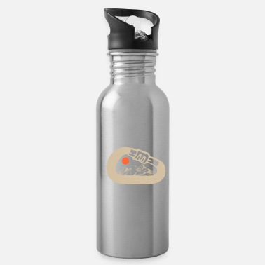 Alps Climbing Mountains Carabiner Hook Summit Gift - Water Bottle