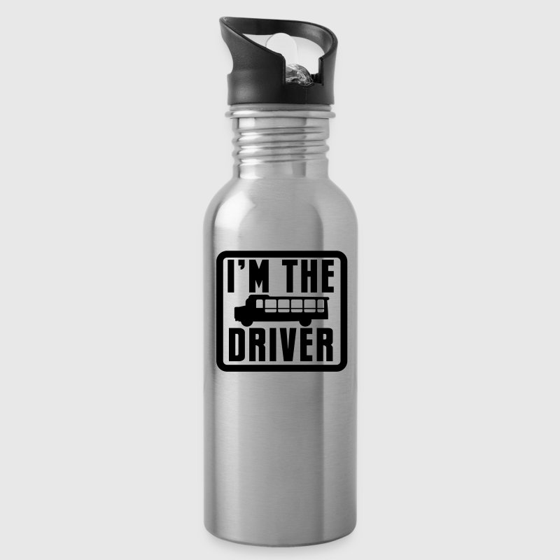 I'm the school bus driver in a rounded square - Water Bottle