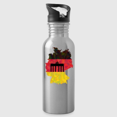 Brandenburg Gate German flag and Brandenburg gate - Water Bottle